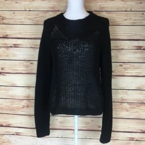 Woolrich Mountain Crew Neck Sweater Black Wool L